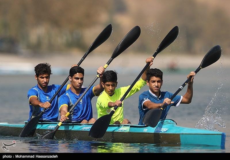 تیم ملی قایقرانی رشته کانوکانادایی در بوشهر تمرین می نماید