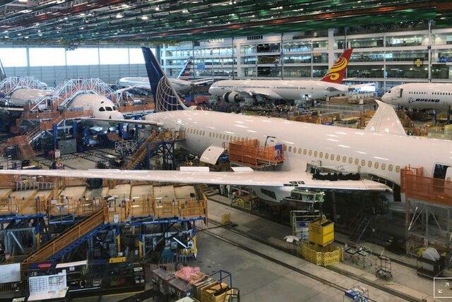 فراوری هواپیماهای بوئینگ کاهش می یابد