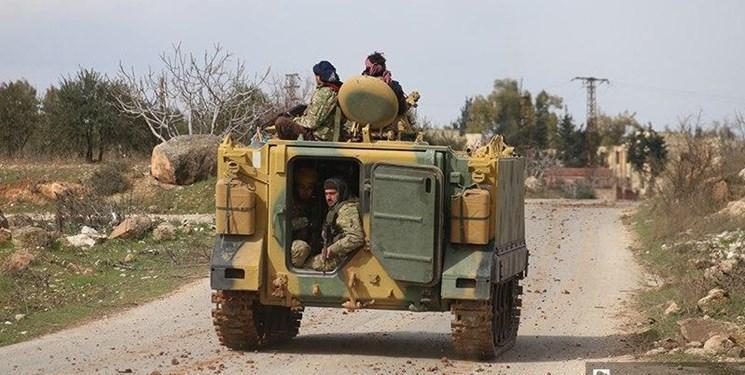 آغاز تجاوز نظامی ترکیه و تروریست های وابسته به آنکارا، در شرق ادلب