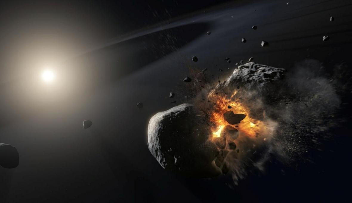 عبور سیارکی از کنار زمین