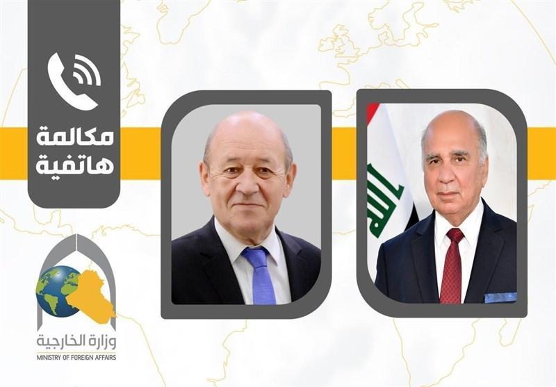 عراق، تماس تلفنی وزیر خارجه فرانسه با همتای عراقی