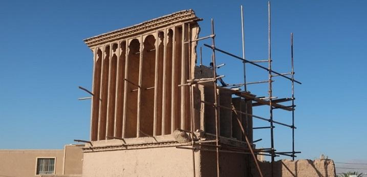بهسازی و احیای بادگیر خانه قاجاری نعمت اللهی در یزد