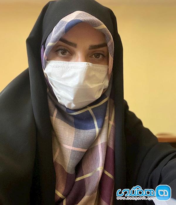 درخواست عاجزانه راحله امینیان برای ماسک زدن