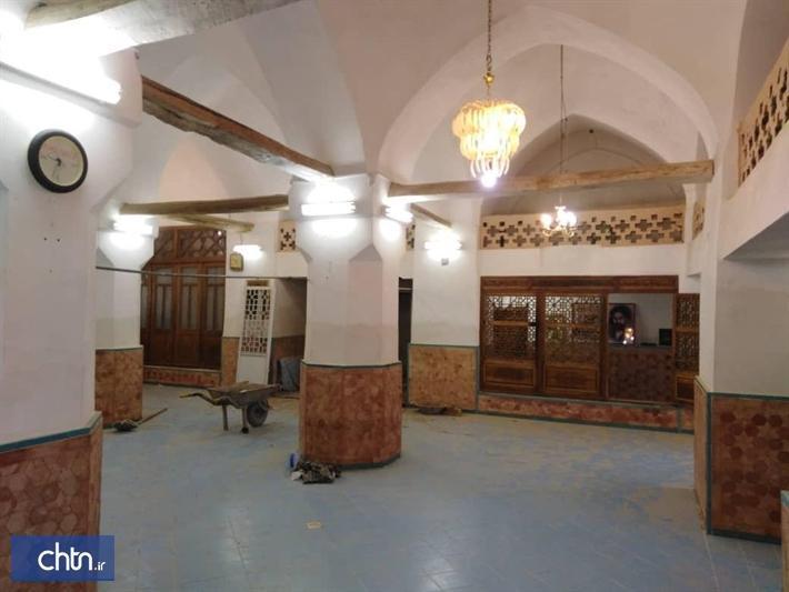 بازسازی و موریانه زدایی مسجد علی در روستای قهرود کاشان