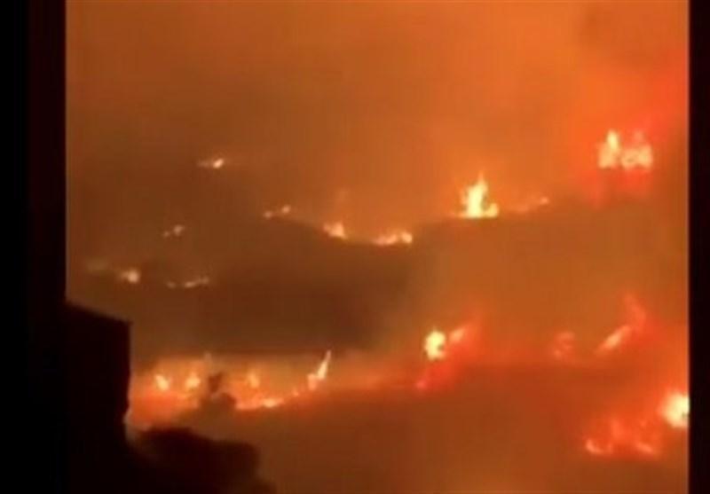 وقوع آتش سوزی گسترده در جنوب عربستان