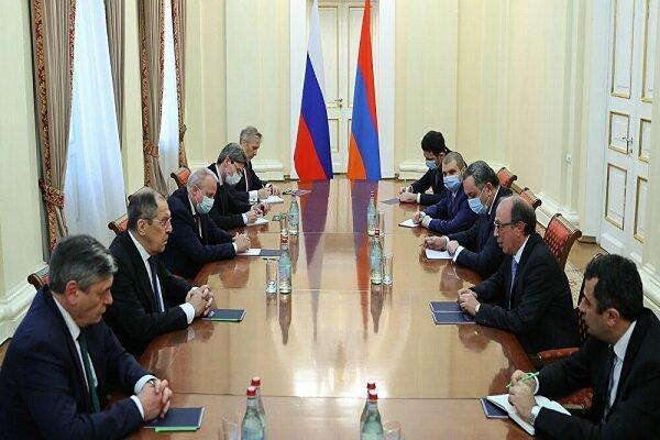 ملاقات وزیران خارجه روسیه و ارمنستان درباره صلح قره باغ
