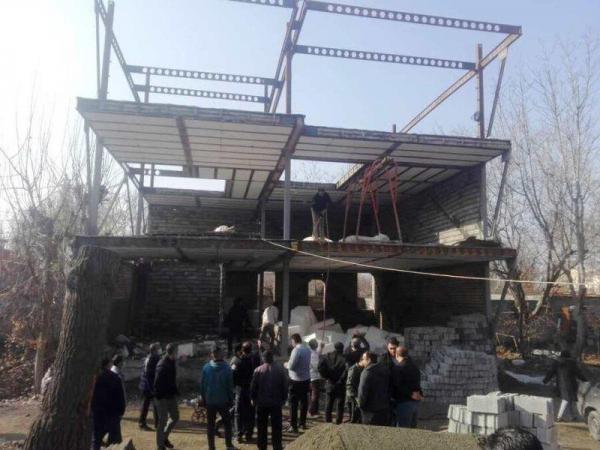 خبرنگاران بناهای غیر مجاز در کرج تخریب شد
