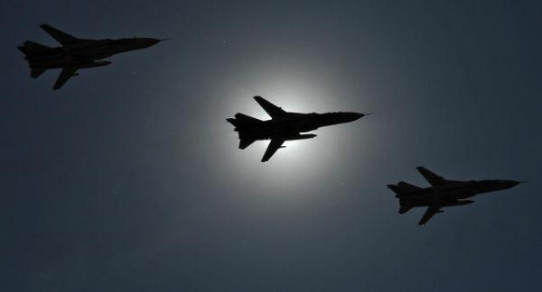 جنگنده های روسیه مواضع داعش در سوریه را بمباران کردند