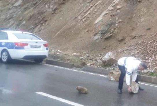 جاده چالوس مسدود شد خبرنگاران