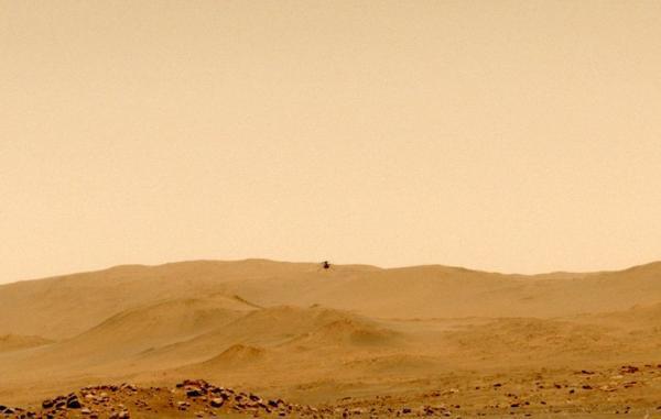 بالگرد نبوغ پس از پنجمین پرواز پیروز در مریخ در محلی جدید فرود آمد