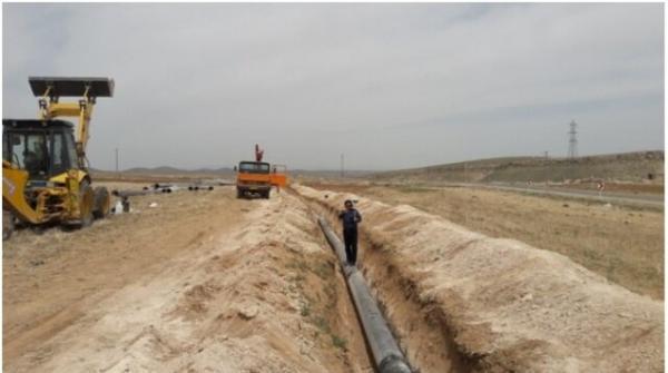 اجرای بیش از 1500 متر پروژه توسعه خط انتقال آب در بیجار