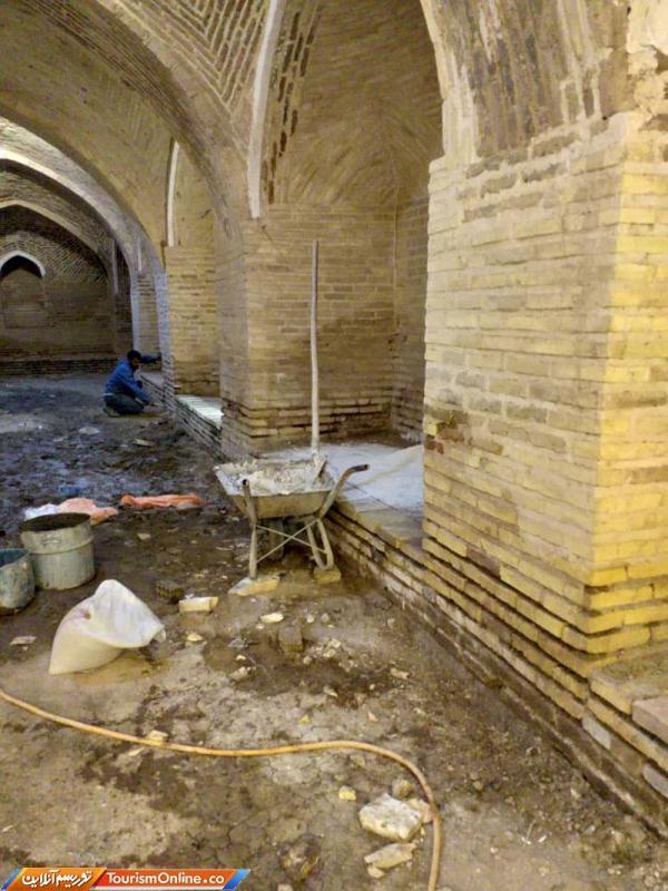 شروع بازسازی کاروانسرای تاریخی آوه در شهرستان ساوه